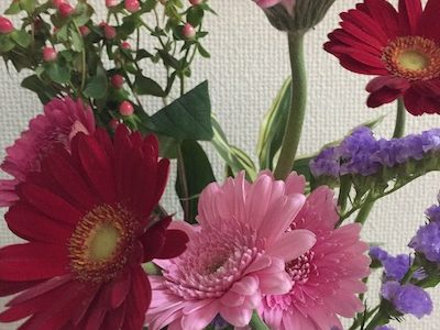 お花の宅配便が来たよ。